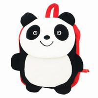 Wholesale cute panda backpacks - Cute Plush Backpack Toys Cartoon Kung Fu Panda Children Kindergarten School Bag Large Space Capacity Shoulder Pack