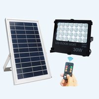 Wholesale Project Lights - Project Lighting LED Floodlight Parking Solar remote control lamp Outdoor street light villa garden lights courtyard 10W 30W 50W 100W