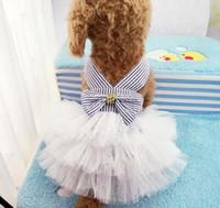 yaz için köpek giysileri toptan satış-Yaz Köpek Elbiseler Pet Köpek Yavru Elbise Kedi Elbiseler Bahar Teddy Chihuahua Nefes Pet Giyim Ropa de Cachorro