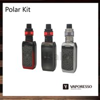 fogo exclusivo venda por atacado-Vaporesso Polar Kit Com 6.5ml Cascade Baby SE Tanque 220W Polar TC Box MOD 0.001s Velocidade de disparo Unique GT Mesh Coil 100% Original
