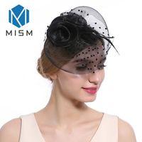 örtü klipsleri toptan satış-M MISM Kadın Saç Aksesuarları Klipler Düğün Parti Dans Çiçekler Fascinator Saç Klipler Örgü Peçe Süsler Şapkalar Tokalar