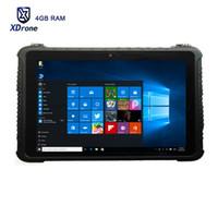 tablette schroff großhandel-2018 10 Zoll 4GB RAM starker Tablette PC Windows 10 Pro-os Intel Core Z8350 Shockproof robuste Tabletten im Freien RJ45 10000mAH