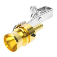 silenciadores para automóveis venda por atacado-2X Universal Car Turbo Silenciador Assobiador de Escape Simulator Assobiador de Tubulação para Veículos de Alta qualidade Tamanho M 5 Cores para Escolher