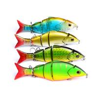 iscas de pesca de qualidade venda por atacado-Isca de pesca de Alta Qualidade Isca De Pesca Exportado para OS EUA 3D Equipamento De Pesca 4 cor juntas iscas 22g / 12.8 cm Nadar isca