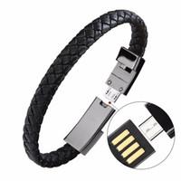 ingrosso linee di dati del braccialetto-Bracciale sportivo cavo caricabatterie usb per adattatore di linea dati del telefono carica rapida veloce iphone X 7 8 più ayfon samsung filo S8 portatile