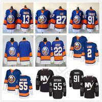Wholesale brands new york - 2018 New Style AD Brand New York Islanders Hockey 13 Mathew Barzal 27 Anders Lee Jerseys 22 Mike Bossy #91 John Tavares Jersey