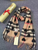 Wholesale Tie Dyed Scarves - HOT 100% Cashmere heart long scarf shawl