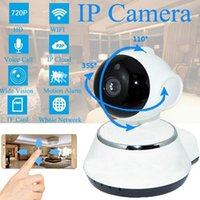 drahtlose überwachungskamera für pc großhandel-720 P IP Kamera WiFi Smart Home Wireless Überwachungskamera Überwachungskamera Micro SD Netzwerk Drehbare CCTV IOS PC