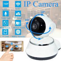 sécurité caméra sans fil pour les pcs achat en gros de-720p caméra ip wifi maison intelligente caméra de surveillance caméra de surveillance sans fil réseau de sécurité micro SD réseau rotatif CCTV IOS PC