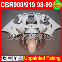 Wholesale 99 cbr fairing kit resale online - 8Gifts Unpainted Full Fairing Kit For HONDA CBR919RR CBR900RR CBR RR CBR919 RR RR Fairings Bodywork Body kit
