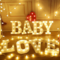 led 3d signs 2018 - 22CM 3D 26 White Letter LED Marquee Sign Alphabet Light Indoor Wall Hanging Night Light Bedroom Wedding Birthday Party Decor New