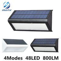 Wholesale high power solar light - High Quality Brightness 4 Modse 800LM Waterproof 48 LED Solar Light 2835 SMD White Solar Power Outdoor Garden