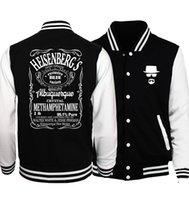 heisenberg hoodie UK - Breaking Bad Heisenberg Plus Size Men Jacket 2017 Spring Baseball Men's Jackets Coat Fashion Hoodies Men Streetwear Tracksuits