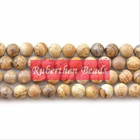 Wholesale NB0032 On Sale Natural Picture Jaspers Beads DIY Bracelet Beads High Quantity Loose Stone mm Round Beads for Make Jewelry