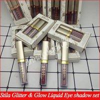 ingrosso kit trucco glitter-Stila Makeup Glitter Glow Liquid Eye set ombra 3 colori Glitter On The Go Kit ombretto edizione limitata