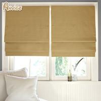 Wholesale Custom Living Room Curtains - Anvige Half Full Blackout Roman Blinds Window Blind For Living Room Custom Made Curtains Free Shipping