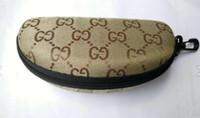 weiche hüllen für gläser groihandel-Wasserdichte Sonnenbrille Fall Sonnenbrille Fall Marke Snake Skin Luxus Soft Leder Brille Box Brillen Zubehör