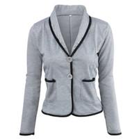 c7da7217b103 Ladies Blazers and Coats Thin Office Wear Plus Size Black Small Suit  Bodycon Slim Short Blazer Jackets Women Coat Female S-6XL
