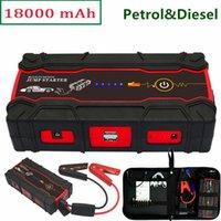 beste batterie power bank großhandel-Beste Qualität 12V Benzin Diesel Notstartvorrichtung Autobatterien Ladegerät Auto Starthilfe Power Bank SOS Licht