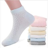 yeni doğmuş yumuşak çoraplar toptan satış-Çocuk Çorap Bahar Yaz Yeni Erkek Kız Pamuk Ince Nefes Bebek Örgü Çorap yenidoğan bebekler için yumuşak