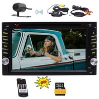 Wholesale sd card video player online - 6 Double DIN in Dash Car Dvd Player GPS Car Stereo Bluetooth USB Dual SD Card Slot FM Radio Back Camera Remote Control