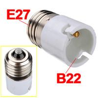 Wholesale light bulb holder fitting - Jiguoor E27 To B22 Lamp Holder Converters Fitting Light Lamp Bulb Adapter Converter