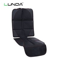 Wholesale slip cover car - LUNDA Universal Car Seat Protector Mat black car Seat Cover Infant Baby Easy Clean Seat Protector Safety non-slip