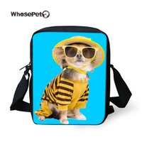 ingrosso portachiavi kawaii-WHOSEPET Kawaii Dog Satchel Cross Body Shoulder Bag Ragazzi Ragazze Hobo Messenger Tempo Libero Zipper Sling Bag Moda Animali Satchel