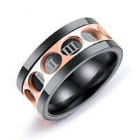 Wholesale wholesale trend ring - Men s Personality Spinning Roman Numeral Spinning Rings Band Simple Fashion Eternity Rotating Rings Gifts Wedding Bands Trend Jewelry G880F