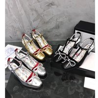 Wholesale high end dress shoes leather - 2018 New fashion Paris catwalk models gold silver black luxury brand ladies high heels high-end Genuine Leather custom ladies loafers shoes