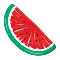 Wholesale outdoor adult swings - Swimming Circle Outdoor Play Toy Inflatable Semicircle Aquatic Adult Toy Watermelon Floats Pad Summer Beach Hot Sale 47yn V