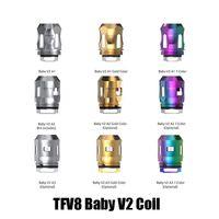 v2 atomizer toptan satış-Otantik TFV8 Bebek V2 Bobin Kafa Değiştirme A1 A2 A3 Bobinleri Çekirdek TFV8 Bebek V2 Atomizer Tankı 100% Orijinal