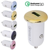 Wholesale car mobile gps online - Car Charger QC A Mini USB Car Charger Quick Charge Mobile Phone Car charger Adapter Universal for iPhone Samsung Xiaomi phone gps