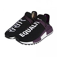 Wholesale Black Shoe Designers - HOT SALE New Pharrell Williams HU NMD Trail Human Race Mens Women Basketball Shoes Luxury Brand Running Sneakers Men Designer Trainers