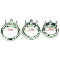 ingrosso accessori gabbia di castità-40/45/50 MM Scegli maschio accessori per cintura di castità Cock Cage Metal Cock Ring Per cocorite CB6000 Deivce Sex Toys For Man