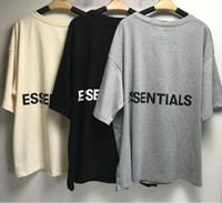 ingrosso shirt stile tshirt-T-shirt Fear Of God Mezza manica in cotone Tshirt Lettere indietro Nebbia ESSENTIALS T-shirt oversize Summer Style Fear Of God t-shirt Streetwear