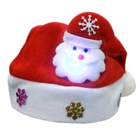 wholesale outdoor christmas decorations for sale high quality festival adult children red christmas hat multi