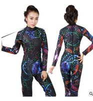 Diving suit female professional long-sleeved trousers one-piece zipper  wetsuit sunscreen snorkeling surf clothing 3mm warm 6fb277ce3