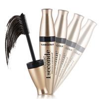 Wholesale Functional Fiber - 3D Multi-functional Mascara Waterproof Liquid Fiber Long Black Eye Lashes Eyelashes Curling Mascara Brush Makeup Extension