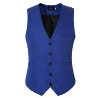 знаменитые жилеты оптовых-Custom Made mens wedding waistcoats  suit vest sleeveless fitness leisure dress vests for men