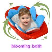Wholesale Sunflower Cushions - Newborn Baby Bathtub folding Blooming Flower Shape Mat Soft Seat Infant Sink Shower Baby Flower Play Bath Sunflower Cushion mat