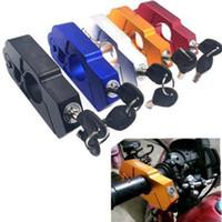 ingrosso le leve del freno di alluminio-Moto Caps-Lock Anit -ftft Sicurezza Manubrio Grip Brake Lever Lock CNC lega di alluminio