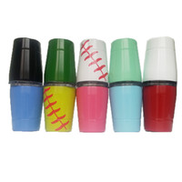 Wholesale double wall coffee glasses - Wine Tumbler 9oz Baseball Cups Double Wall Kids Cup Stainless Steel Tumblers with lids straws Coffee Mug Wine Glasses