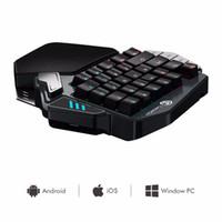 tastaturtastaturschalter großhandel-GameSir Z1 RGB Mechanische Gaming-Tastatur Cherry MX Red Key Switches Einhand-Wireless-Mini-Tastatur FPS PUBG Mobile Game Keyboard