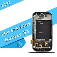 Wholesale galaxy s3 screen display - For Samsung Galaxy S3 i9300 i9305 i535 i747 L710 LCD Display Touch Screen Digitizer Replacement with Brightness Adjustment Free Shipping
