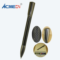 Wholesale Christmas Ball Pens - ACMECN New & unique Design Ballpoint Pen Office and School Writing Stationery Carbon Fiber Ball Pens Unisex Hot Christmas Gifts