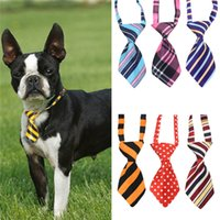 Wholesale polyester ties free shipping for sale - Polyester silk pet tie dog headdress necktie ddjustable nice bow tie cat tie pet supplies color free ship