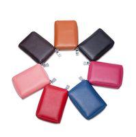Wholesale Wholesalers Men Small Wallets - Accordion Card Bag Zipper Multifunctional Small Men Women Coin Purse Key Bag Leather Travel Passport Card Holder Bag ljjf026