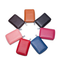 ingrosso borsa piccola passaporto-Sacchetto di carta di fisarmonica cerniera multifunzionale uomini piccoli donne portamonete borsa chiave borsa da viaggio in pelle passaporto titolare borsa ljjf026