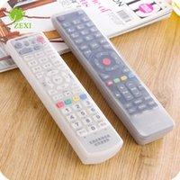 Wholesale tv remote protective cover - TV Remote Control Protective Cover Transparent Waterproof Anti Dust Silicone Storage Bags Soft Safety Organizer Non Toxic 1 45zx B